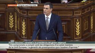"""Pedro Sánchez: """"Dimiteixi, senyor Rajoy, surti del govern per decisió pròpia"""""""