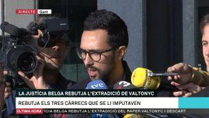 La justícia belga rebutja l'extradició del raper Valtonyc
