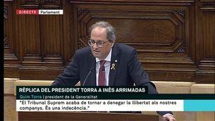 Rèplica del president Torra: Ciutadans i PSC-Units per Avançar
