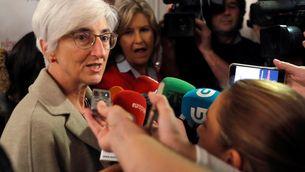 La fiscal general de l'Estat, María José Segarra, arribant aquest matí a un esmorzar informatiu de la ministra de Justícia, Dolores Delgado (EFE)