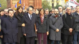 Govern i entitats donen suport al president Quim Torra al judici per desobediència