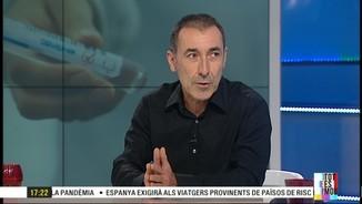 """Imatge de:Josep Corbella: """"Si seguim amb la mateixa tendència, d'aquí 3 o 4 setmanes podríem tenir la pandèmia sota control"""""""