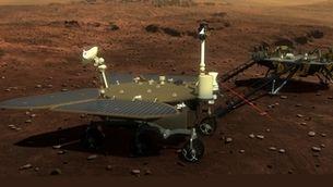 Recreació del ròver Zhurong a la superfície de Mart