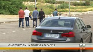 Cinc ferits a Sabadell en un tiroteig prop d'un centre comercial