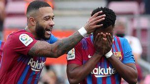 Ansu Fati, emocionat després del seu gol