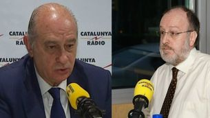 Jorge Fernández Díaz, ministre de l'Interior, i Àngel Colom, dirigent de Nous Catalans