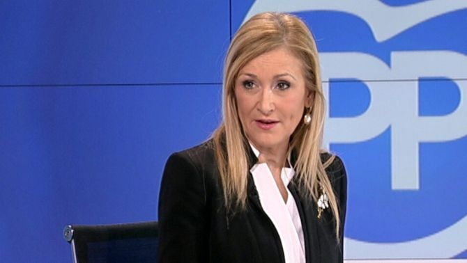 La presidenta de la Comunitat de Madrid, Cristina Cifuentes, en una imatge d'arxiu