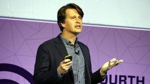 El conseller delegat de Niantic i creador de Pokemon Go, John Hanke, en la seva conferència aquest dimarts 28 de febrer al Mobile World Congress