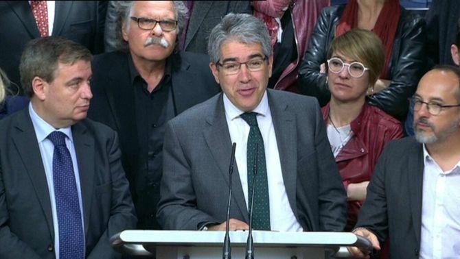 """Homs s'acomiada del Congrés en rebre la sentència del 9N: """"Condemnat, però feliç"""""""