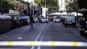 El carrer Pelai de Barcelona, tancat al trànsit després de l'atemptat (Foto: Reuters)