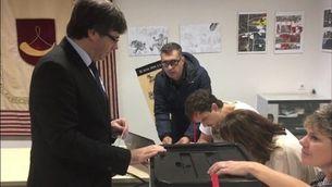 El president Puigdemont ja ha votat