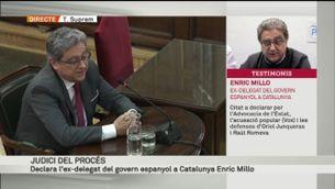 """Millo: """"En les reunions amb Puigdemont, em vaig trobar una cadira buida a l'altra banda de la taula"""" [vídeo]"""