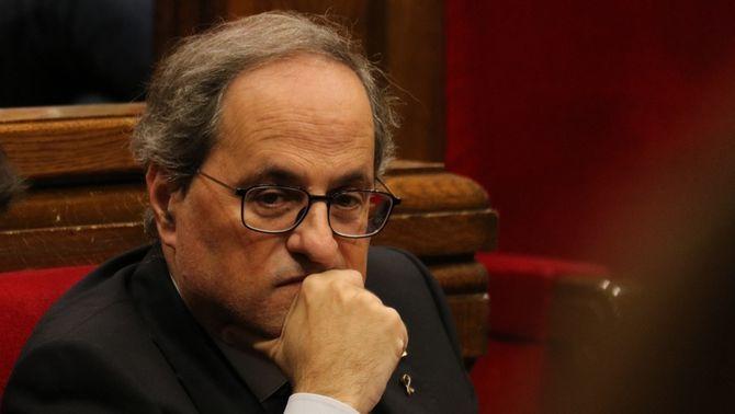 Torra durant el ple del Parlament d'aquest dimecres (ACN / Bernat Vilaró)