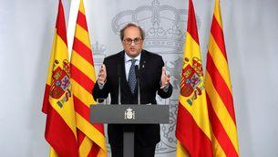 Torra ha comparegut a La Moncloa, el primer cop que ho feia un president de la Generalitat des del 2012 (EFE/Kiko Huesca)