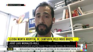 """José Luis Morales-Rull: """"A Lleida tenim la sensació d'estar al començament del que vam viure al mes de març"""""""