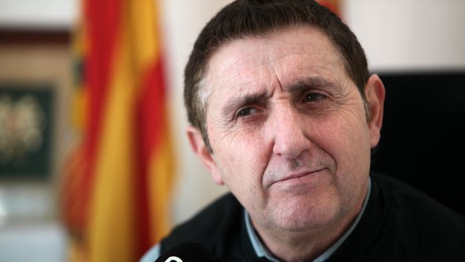 Ildefonso Salillas, alcalde de Vilanova de Sixena. 9 de febrer de 2018