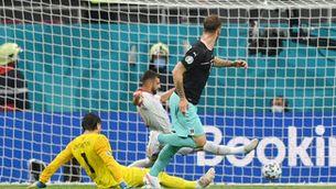 Àustria guanya Macedònia del Nord (3-1) i aconsegueix la primera victòria en una fase final d'Eurocopa