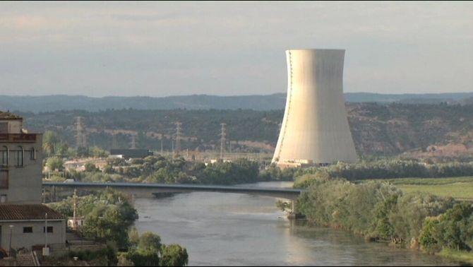 La central nuclear d'Ascó, en una imatge d'arxiu