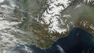 Mantell de neu als Alps (NASA)