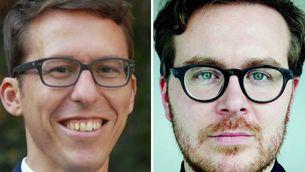 """Bastian Obermayer i Frederik Obermaier, els dos periodistes alemanys que van iniciar la investigació sobre els """"papers de Panamà"""""""
