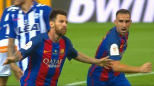 Messi fa el primer gol del Barça