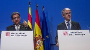 Les dades de tot el dispositiu electoral les han donades el delegat del govern espanyol a Catalunya, Enric Millo, i el nou màxim responsable de la Conselleria d'Interior en aplicació del 155, Juan Ant