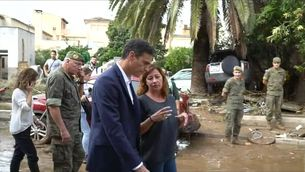 El president espanyol, Pedro Sánchez, acompanyat de la presidenta balear, Francina Armengol, visiten la zona afectada pels aiguats