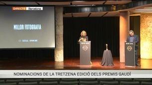 Nominacions de la 13a edició dels Premis Gaudí