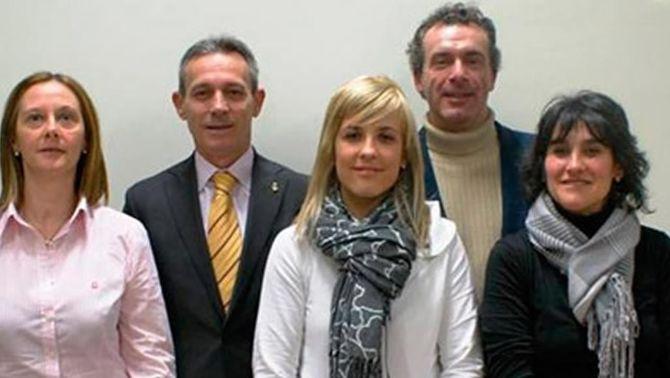 Josep Maria Paré en una foto de grup d'arxiu