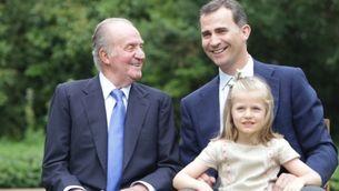 El rei, el príncep Felip i la infanta Elionor.