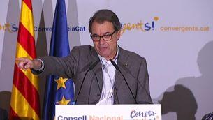 """Mas ha advertit que no comptar amb Convergència per a la Catalunya independent és fer un """"dèbil favor"""" al procés"""
