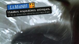 Cartell de La Marató 2003, dedicada a les malalties respiratòries cròniques