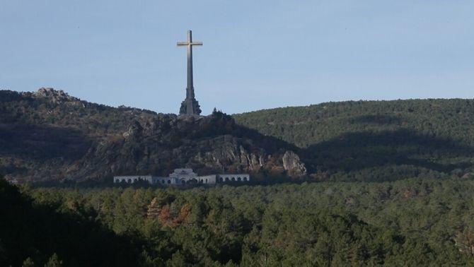 El Valle de los Caídos vist de lluny