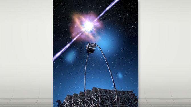 Detecten la llum més potent procedent dels fenòmens més violents de l'univers