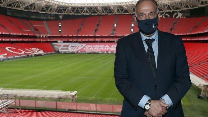 """Tebas: """"Laporta té altres problemes de què preocupar-se, com la gestió econòmica del club"""""""