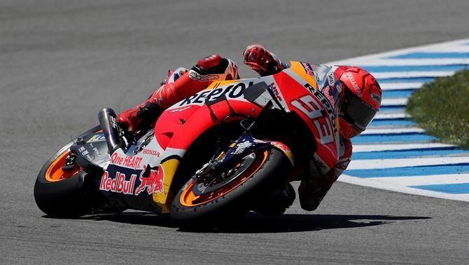 Marc Márquez es ressent de les cervicals i només pot completar set voltes als tests a Jerez