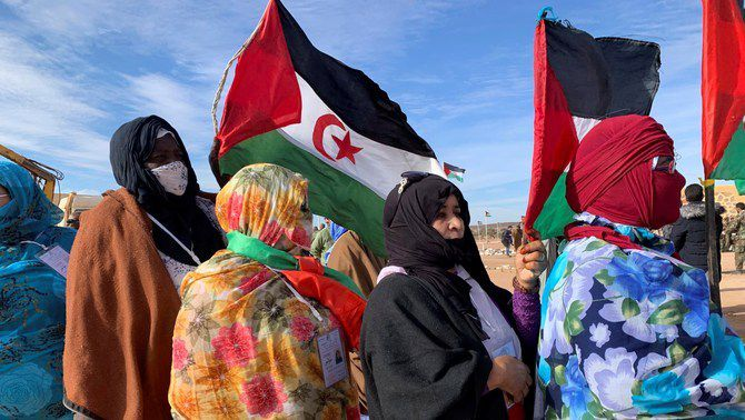 Un grup de dones, en el Congrés del Front Polisario, el desembre de 2019