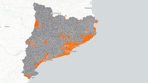 Toc de queda a Catalunya: consulta el mapa amb els municipis afectats
