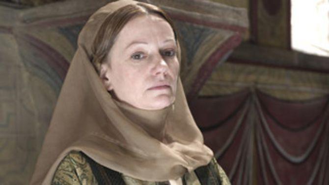 Rosa Renom interpreta el paper de Riquilda, vescomtessa de Barcelona.