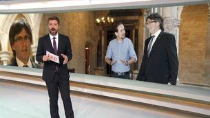 Trobada Puigdemont-Iglesias