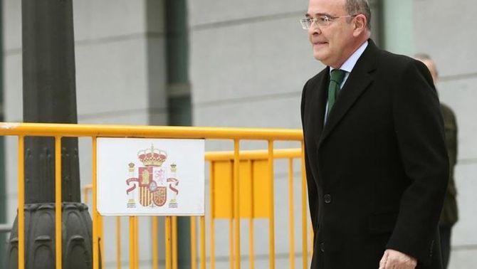 Pérez de los Cobos després de declarar a l'Audiència Nacional davant la jutge Carmen Lamela (EFE)