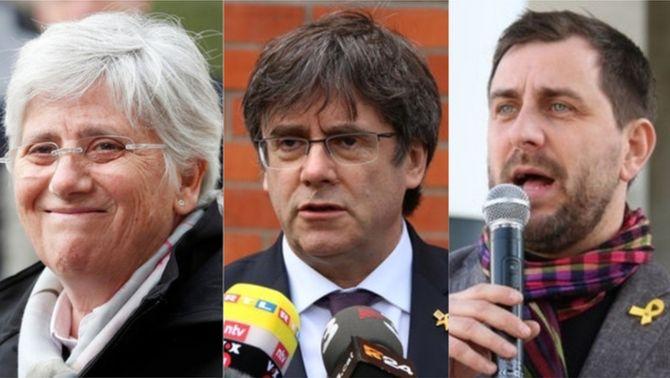 La Junta Electoral prohibeix a Puigdemont, Comín i Ponsatí presentar-se a les europees