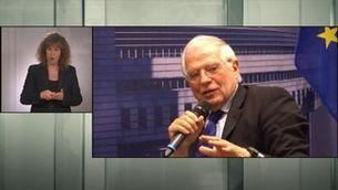 Borrell critica les protestes pel canvi climàtic i ha de rectificar - Llengua de signes