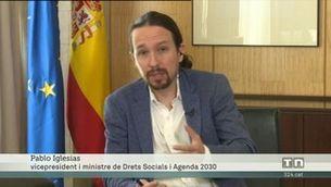Iglesias reconeix un problema de comunicació sobre la renda mínima
