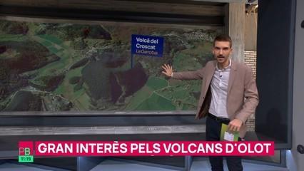 Com es veuria la colada de lava de La Palma si emergís del volcà del Croscat?