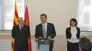 José Montilla i Francesc Boya, durant l'última visita del president de la Generalitat a la Vall d'Aran. (Foto: ACN)