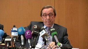 El fiscal anticorrupció, Antonio Salinas, durant la roda de premsa