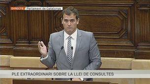 Intervenció d' Albert Rivera (Ciutadans) en el Ple de la Llei de Consultes