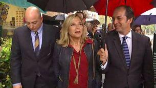 L'exvicepresidenta del govern Joana Ortega arriba al TSJC