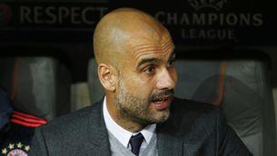 Pep Guardiola en una imatge d'arxiu a la banqueta del Bayern (Reuters)